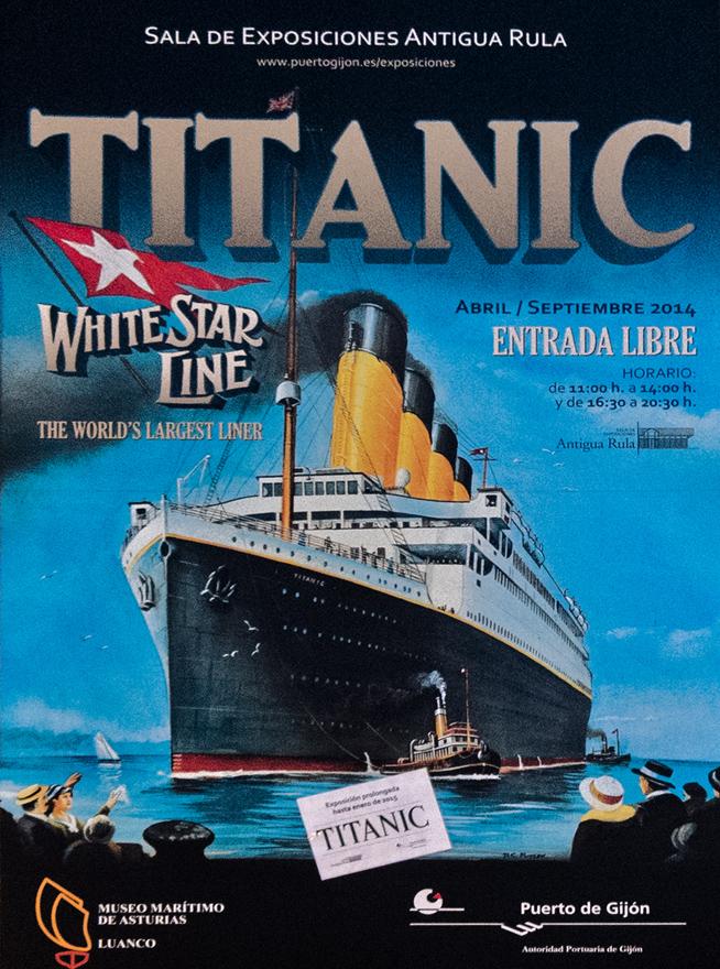 Cartel Exposición Titanic Gijón