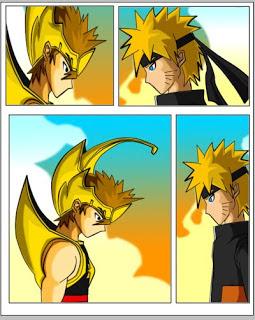 Gambar - Gatot kaca dan Naruto dipindahkan kedalam kolom