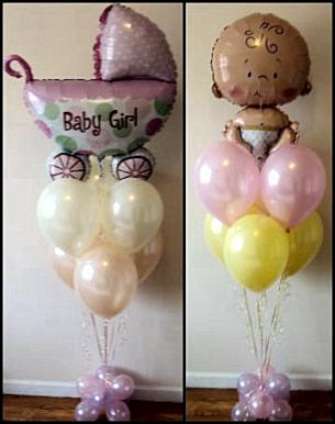 Balloon designs pictures balloon baby shower for Baby shower balloons decoration