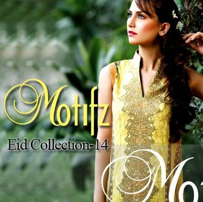 Motifz Eid Collection 2014-2015   Printed Long Shirts for Eid UL Fitr
