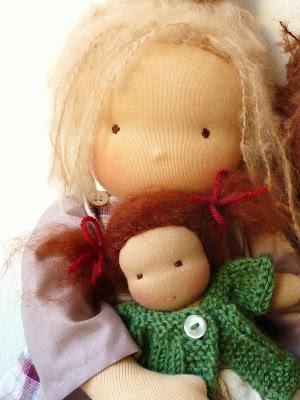 tiny waldorf doll