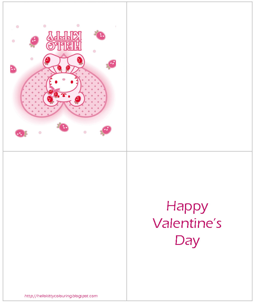 HELLO KITTY PRINTABLE VALENTINE CARDS