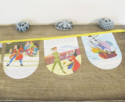 image storybook bunting peter pan and wendy captain hook domum vindemia children's decor baby shower