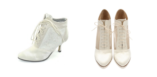 alternative bridal shoes, bridal boots, Loeffler Randall shoes