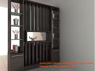 sekat minimalis adalah difungsikan untuk pembatas ruang tamu dan ruang ...