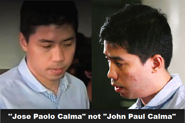 "co-accused in mauling Vhong Navarro named John Paul Calma or ""JP Calma"" which later confirmed with real name on his passport as ""Jose Paolo Calma"" left the Philippines"
