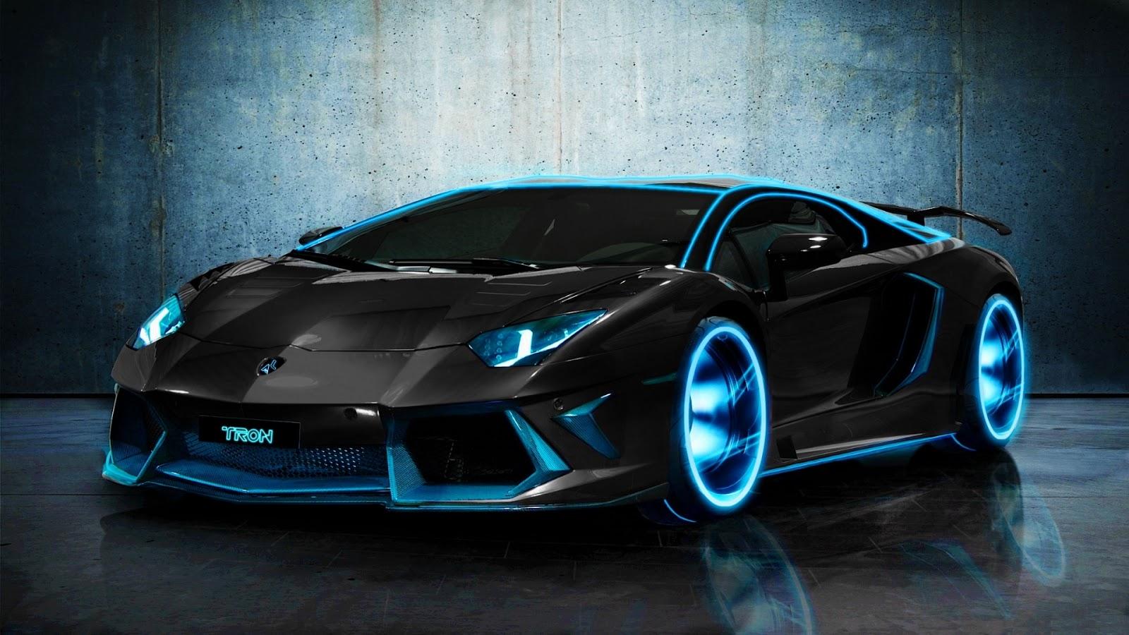 Tron Lamborghini Aventador HD Wallpaper