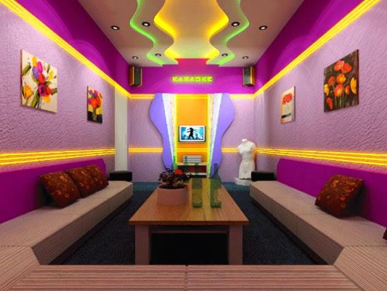 Trần thạch cao cho phòng karaoke