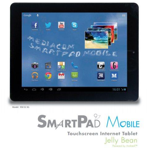 Nuovo tablet android jelly bean di Mediacom per febbraio 2013 con porta LAN Ethernet