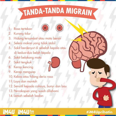 tanda-tanda migrain