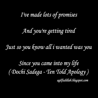 Lyrics Translate And Chord Guitar : Ten Told Apology - Dochi Sadega