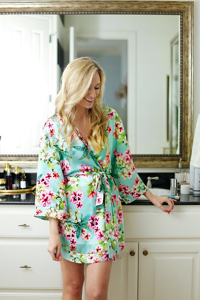 Yumi Kim floral bath robe