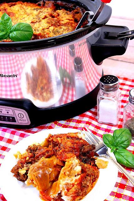 Whole Grain Crock Pot Sausage Lasagna