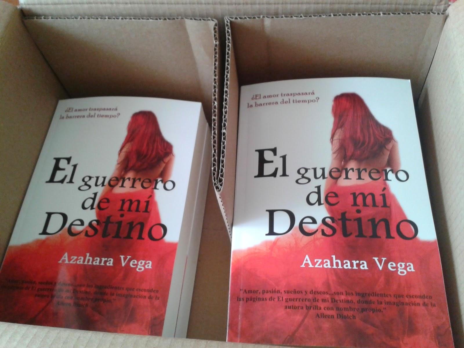 1 ejemplar de la Novela El guerrero de mi destino, firmado por la autora.