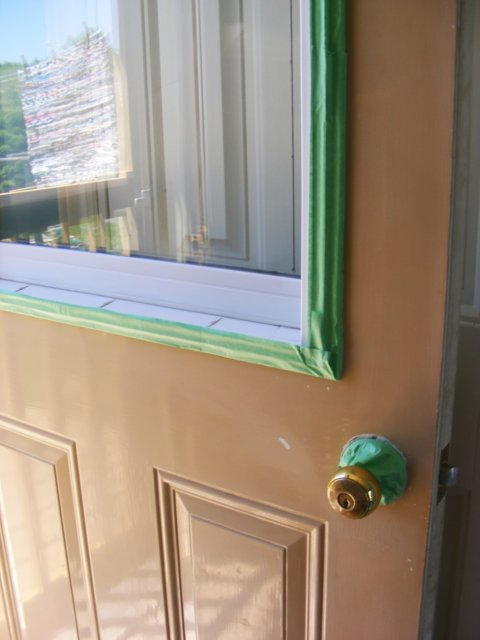 Using A Good Quality Paint Brush Apply Two Thin Coats Of Paint To The Door Starting In Crevices And Decorative Pieces And Then Do The Flat Areas