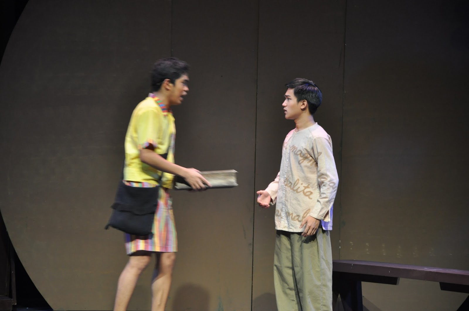 rizal stage play This chapter serves to introduce most of rizal's main characters, those that play  (bouncing the ball and enters the stage) ahmed, aren't you coming to play.