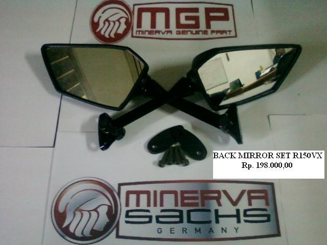 SPION SET (BACK MIRROR) MOTOR MINERVA 150VX