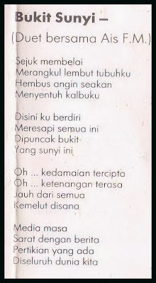 Lirik Strangers Bukit Sunyi