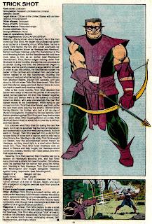 Tiro Trucado (Trickshot)(ficha marvel comics)