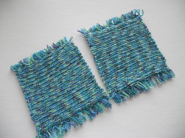 Knitting Off The Grid: Twice Knit Mug Rugs