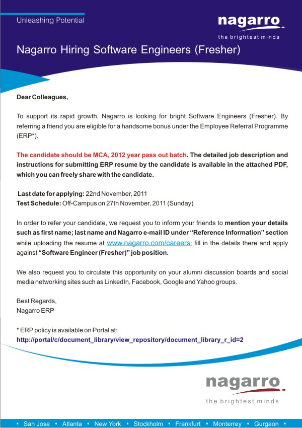 software engineer cover letter for freshers