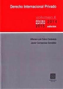 Derecho Internación Privado Volumen I. Manuales Técnicos Especializados de Derecho.