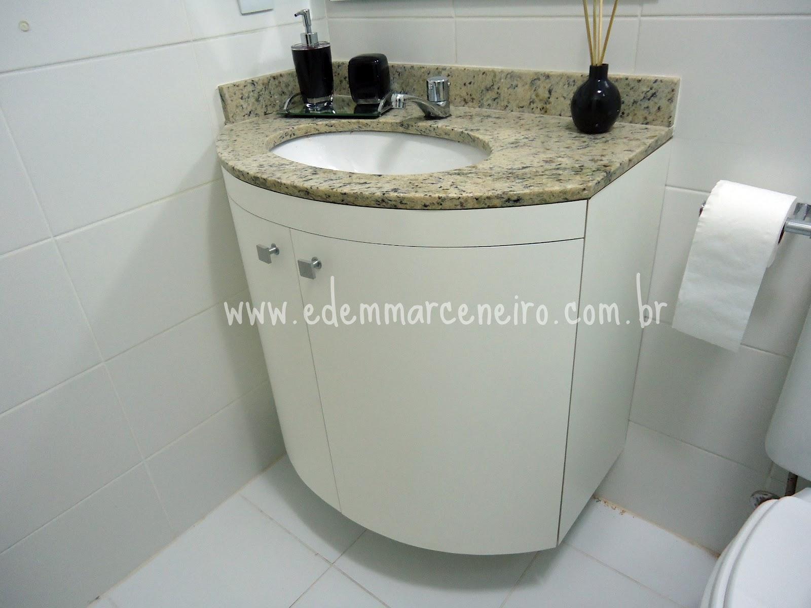 Armário para bancada em curva Edem Marceneiro #767055 1600x1200 Armario Banheiro Com Tulha