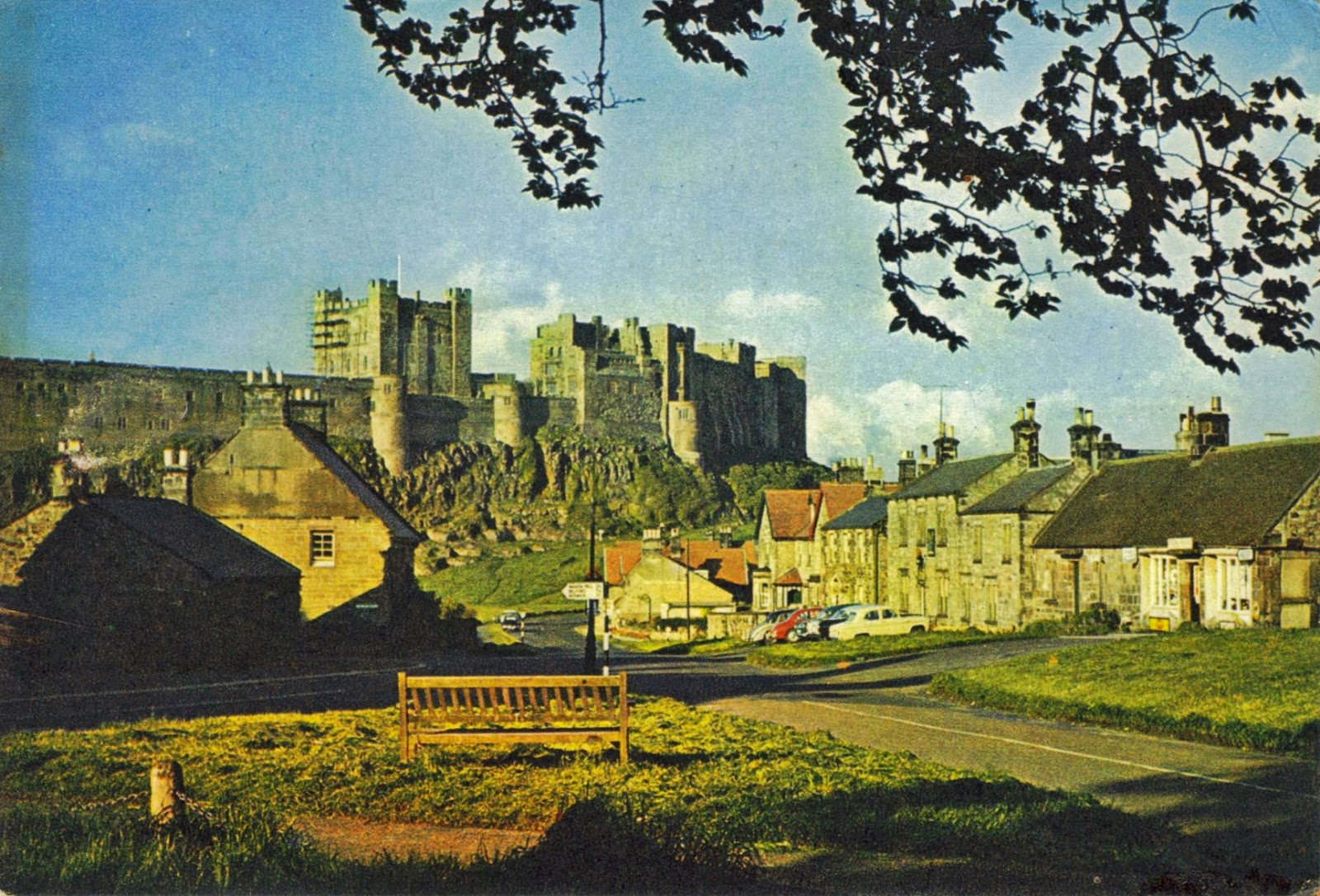 Bamburgh Village and castle