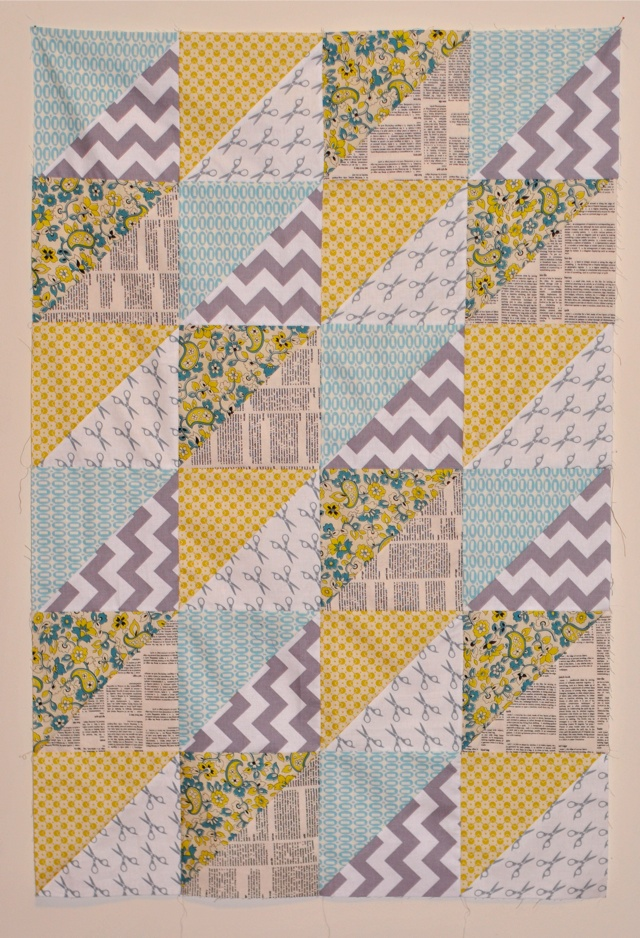Quilt Patterns Quarter Square Triangles : Quick Triangles Baby Quilt Craft Buds