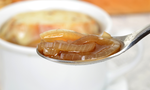 Spoon full of french onion, quick soup.