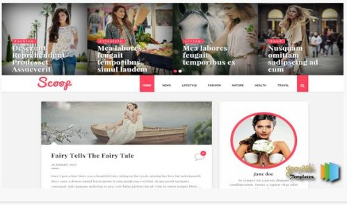 Scoop Fashion Girls Template Blog Responsive Design Seo Friendly