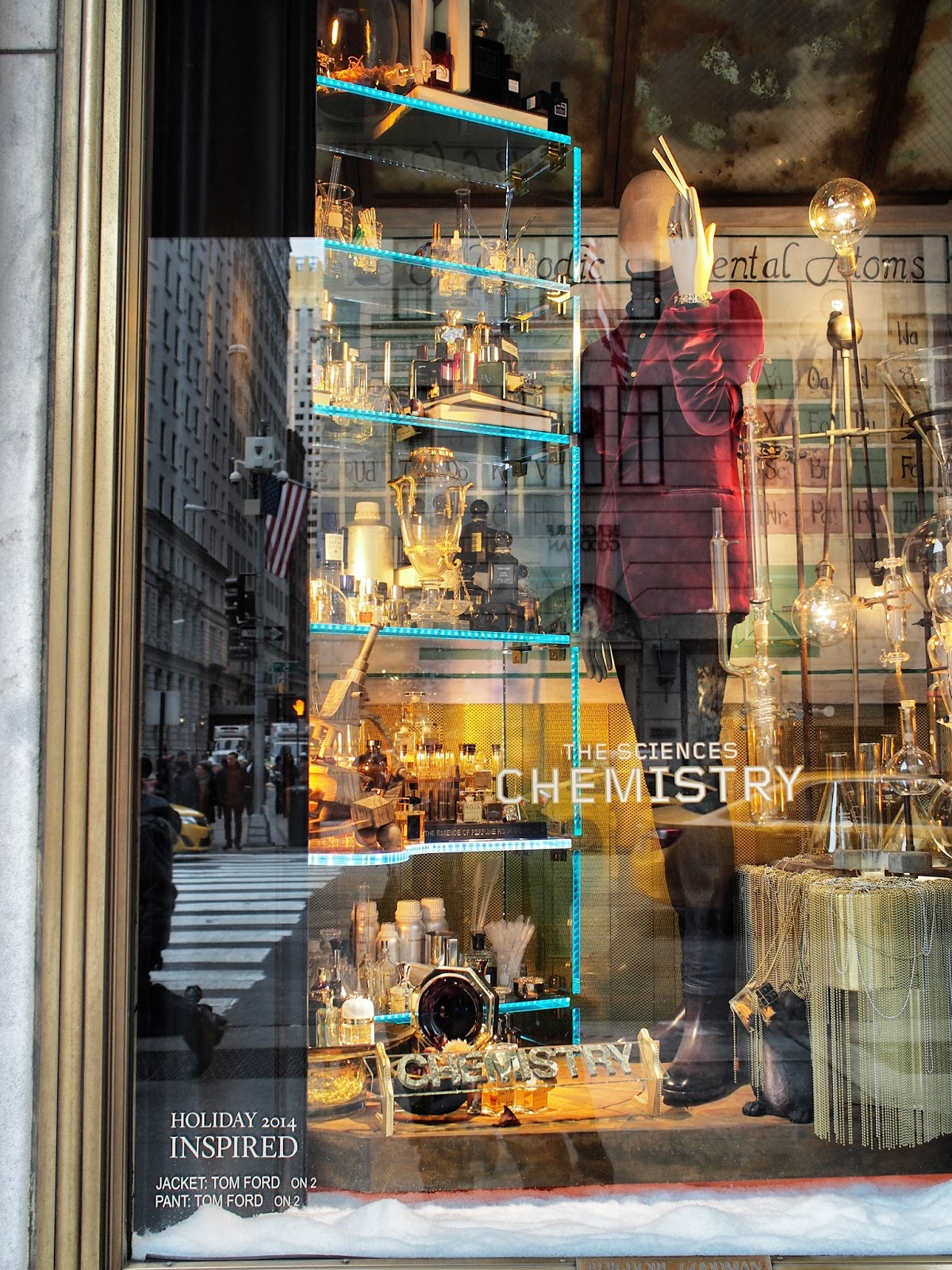 Inspired by Chemistry #inspiredbychemistry #bgwindows #windowwatchers #holidaywindows #5thavenuewindows #NYC  #holidays #besttimeoftheyear #nyc ©2014 Nancy Lundebjerg