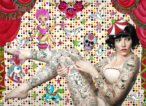 The Outstanding Pin Up Girls Tattoo Designs Images
