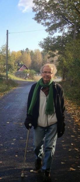 Olle Blomkvist på promenad i oktober 2014.