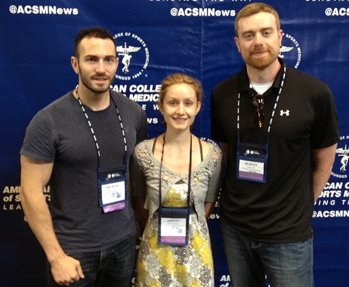 ACSM Quiz Bowl participants Michael Holmes, Ashley Schroeder, and Dudley Babb.