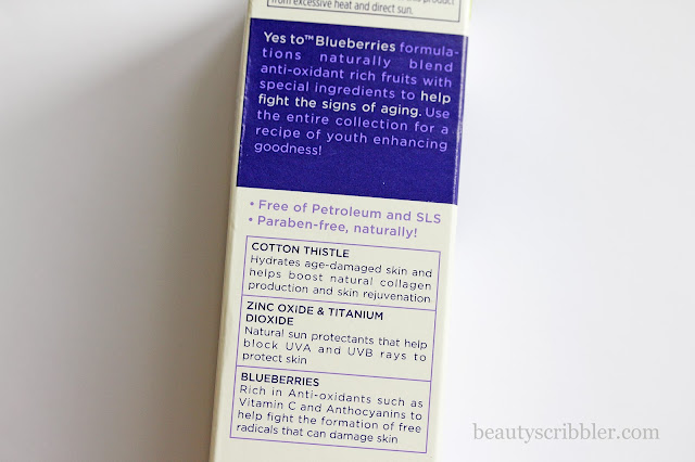 Yes to Blueberries Age Refresh Daily Facial Moisturizer SPF 30 box
