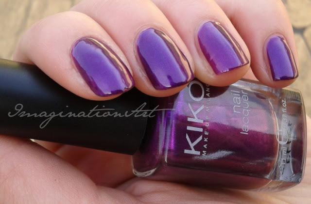 kiko swatch swatches viola violet orchidea perlato smalto nail lacquer unghie polish