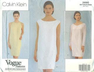 sheet shibori dress vogue 2690 calvin klein