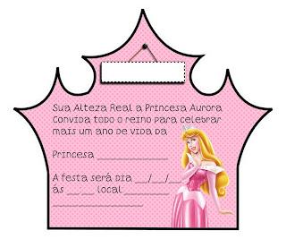 convite aniversario princesa aurora imprimir gratis