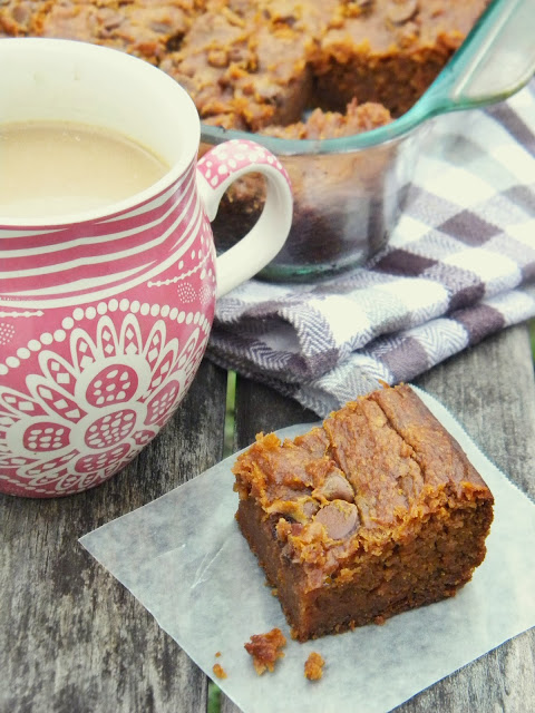 Grain-free Peanut Butter Pumpkin Brownies via @labride
