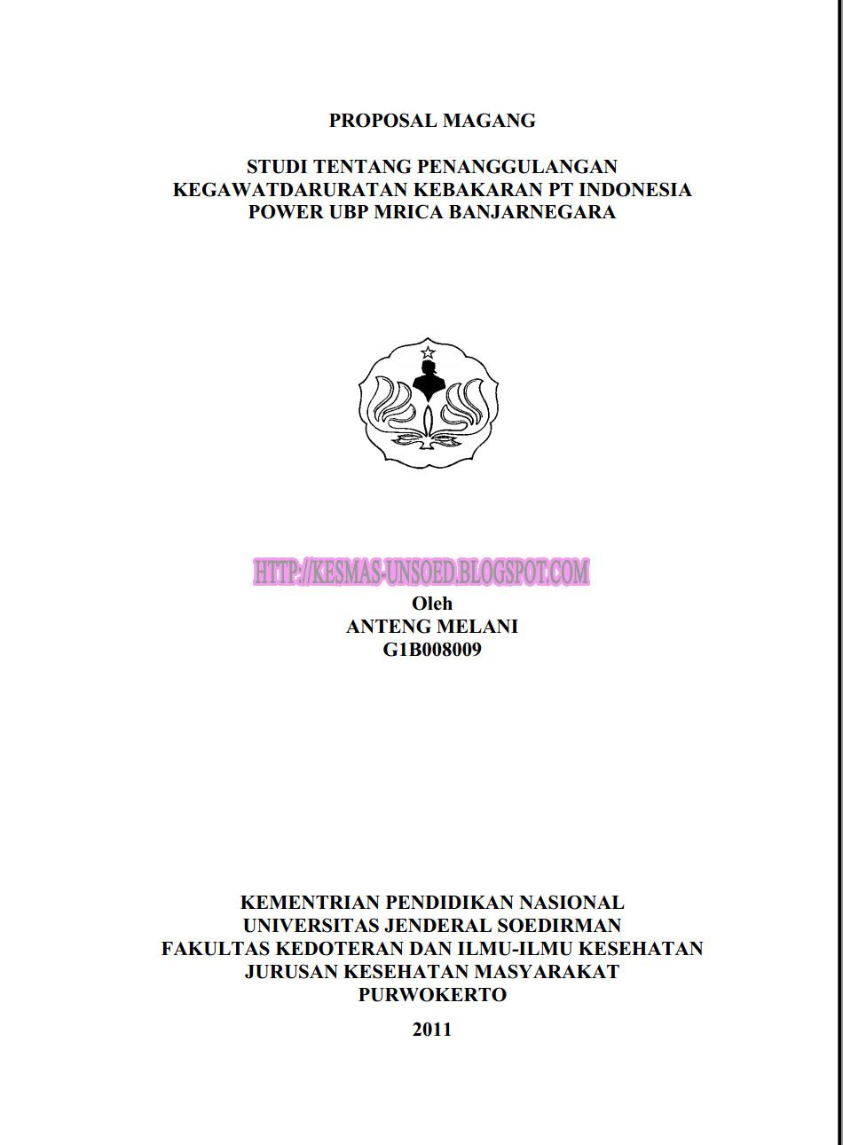 Proposal Magang Studi Tentang Penanggulangan Kegawatdaruratan