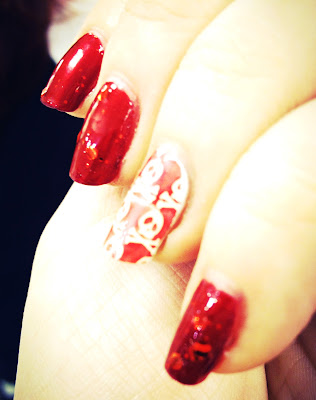 Instagram red nail polish