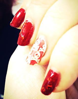 Instagram red nail polish