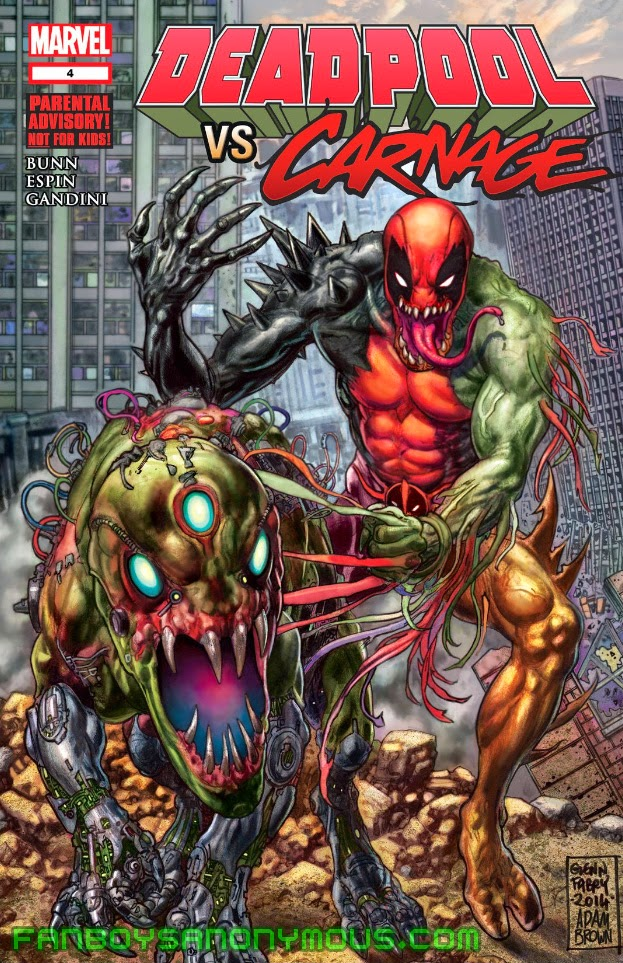 Read Deadpool vs. Carnage on your mobile device with the Marvel Comics App
