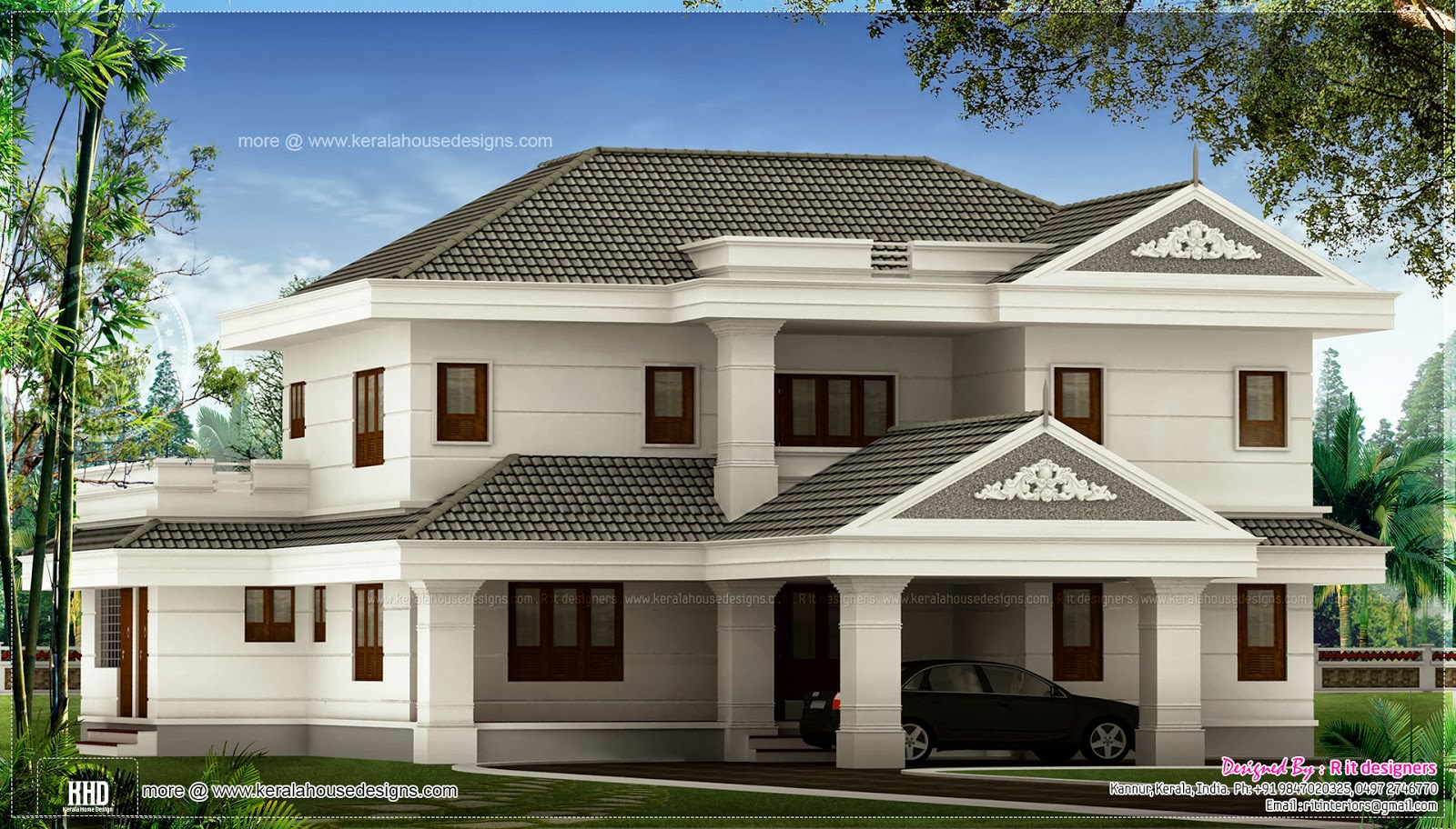 2 Luxury House Elevations By R It Designers Kannur Home