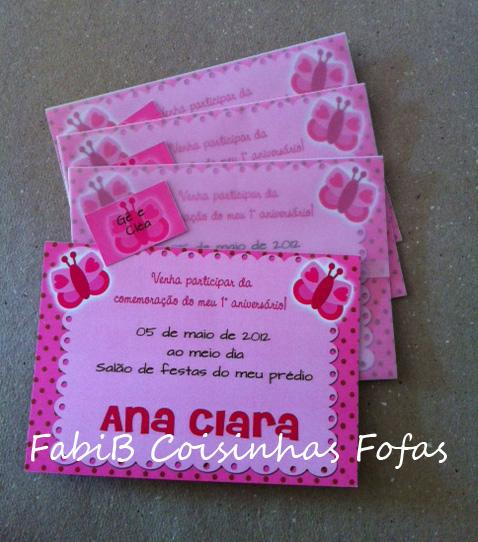 Fabib Aniversário Borboletas Rosa E Marrom