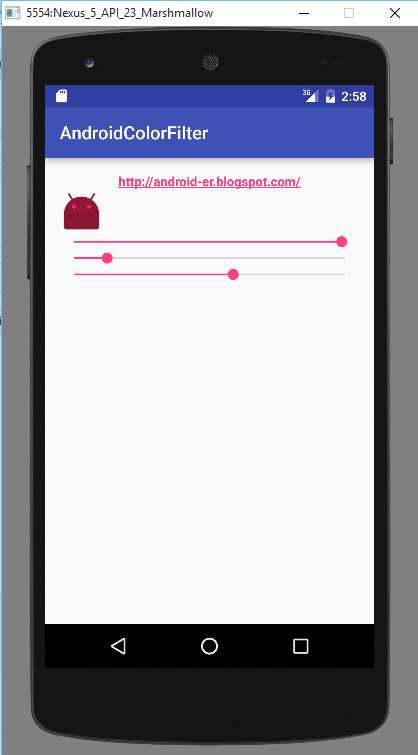 Android er android example code using colorfilter - Er finestra android ...