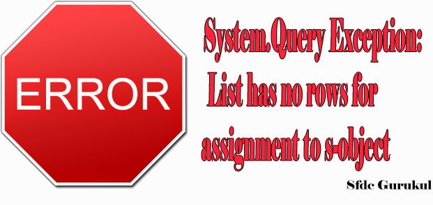 List has no rows for assignment to sobject