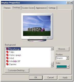 Mengubah Tampilan Background Desktop (mengganti wallpaper)