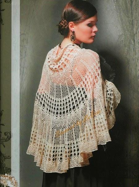 Capa de dama crochet fiesta